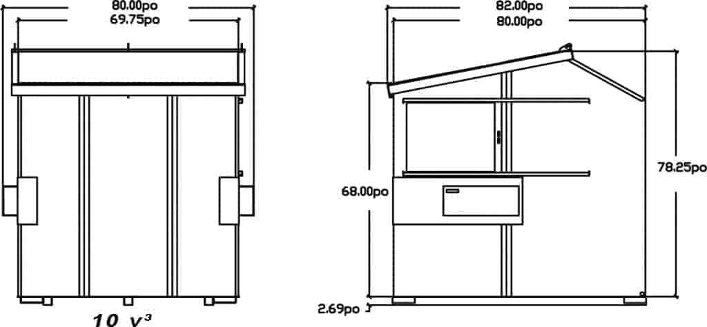 schema-dessin-du-conteneur-a-chargement-avant-incline-10v³-de-laurin-conteneurs