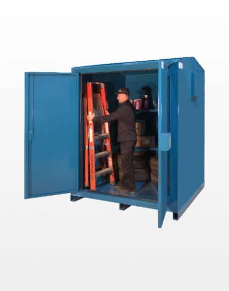 armoire-de-dangement-bleu-en-acier Laurin Conteneurs