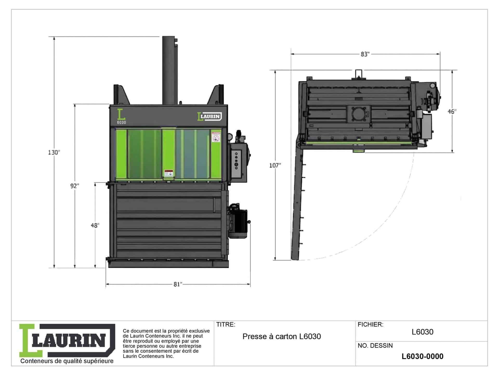 Dessin Technique Presse A Carton L6030